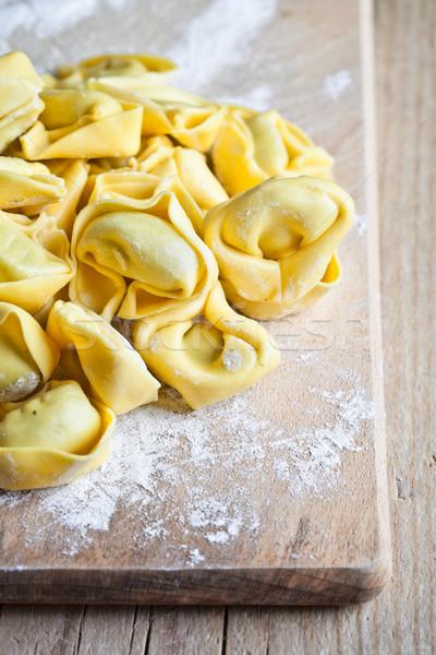 Tortellini primer plano cocina queso pasta Foto stock © marylooo