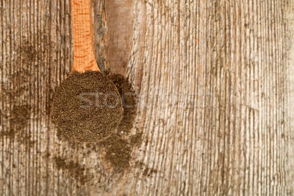 Suelo pimienta negro cuchara de madera rústico textura Foto stock © marylooo