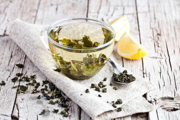 cup of green tea and lemon  Stock photo © marylooo