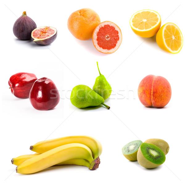 Friss gyümölcsök izolált fehér étel természet Stock fotó © marylooo