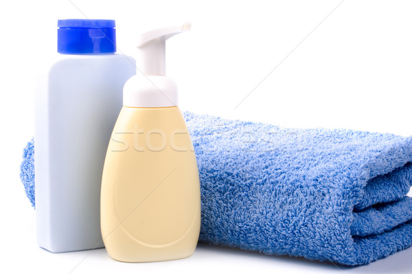 body care products and towel Stock photo © marylooo