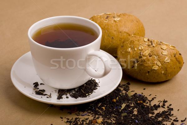 Кубок чай хлеб пшеницы завтрак Сток-фото © marylooo