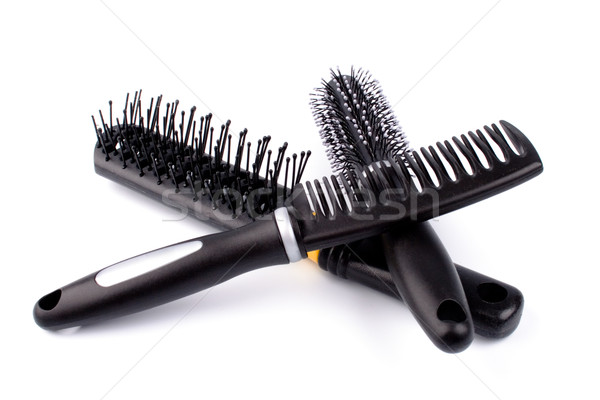 three hairbrushes Stock photo © marylooo