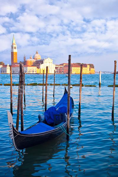 Gôndola canal Veneza Itália água paisagem Foto stock © marylooo