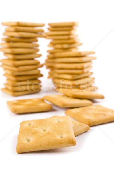 Tres cookie aislado fondos blancos comer amarillo Foto stock © marylooo