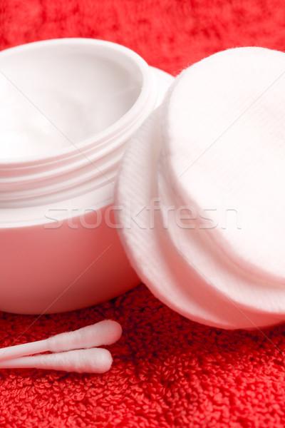 cotton pads and facial creme Stock photo © marylooo
