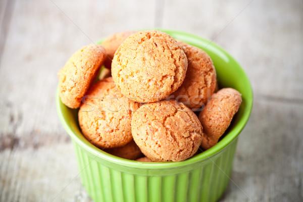 meringue almond cookies in bowl  Stock photo © marylooo