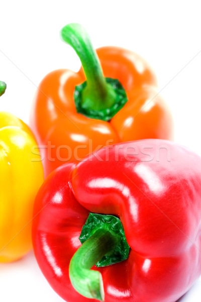 three bell peppers Stock photo © marylooo