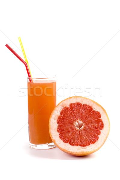 Pomelo jugo mitad vidrio blanco frutas Foto stock © marylooo