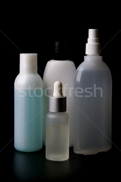 Conjunto perfumaria preto estância termal banho fundos Foto stock © marylooo