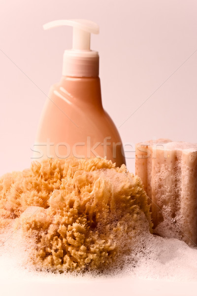soap, natural sponge and shower gel  Stock photo © marylooo