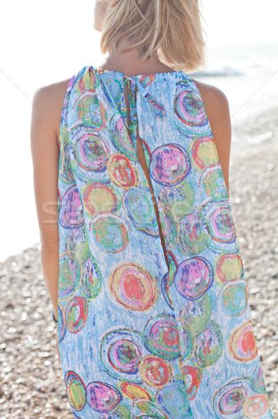 若い女性 ビーチ 小さな ブロンド 女性 夏 ストックフォト © marylooo