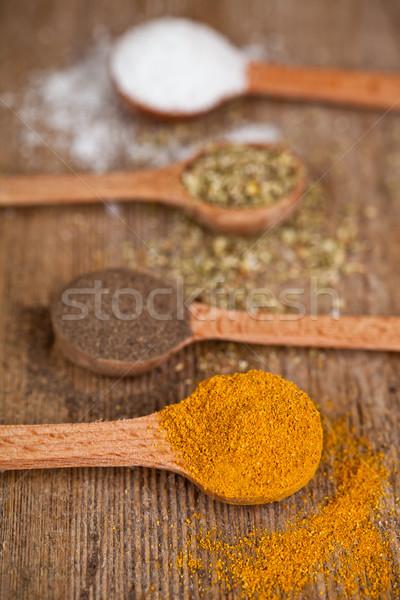 карри перец орегано приготовления соль Сток-фото © marylooo