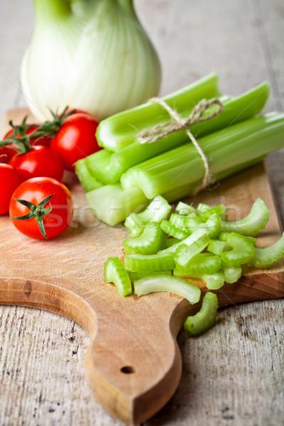 свежие органический фенхель сельдерей помидоров Сток-фото © marylooo