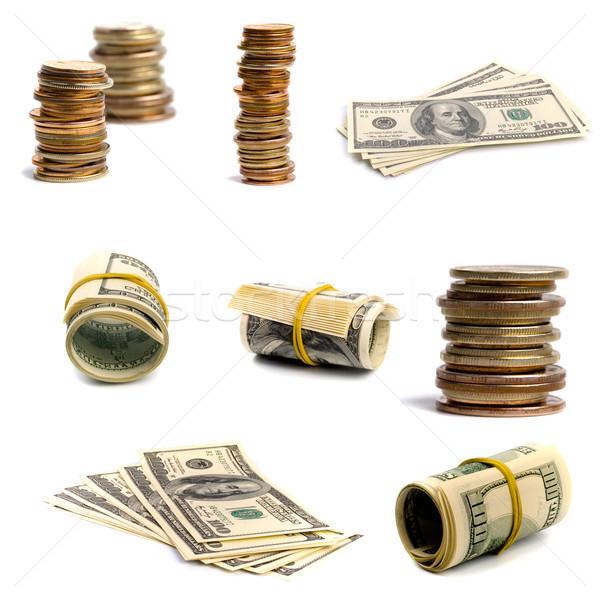bills and coins Stock photo © marylooo