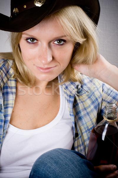 pretty western woman Stock photo © marylooo