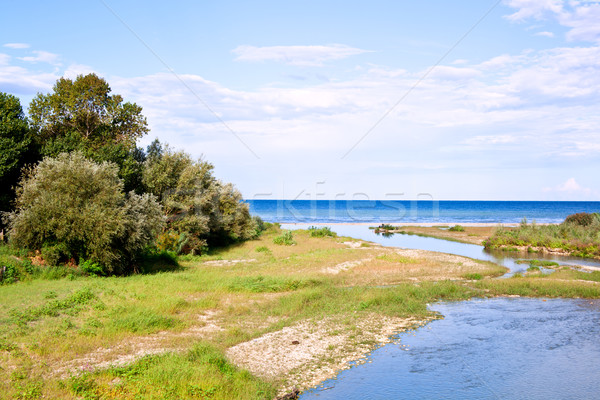 river, coastline and blue sea  Stock photo © marylooo