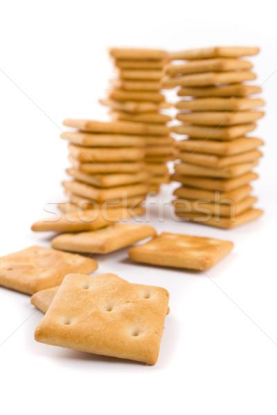 Cookie tres aislado fondos blancos comer amarillo Foto stock © marylooo