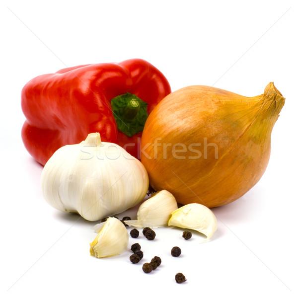 fresh vegetables and black pepper Stock photo © marylooo