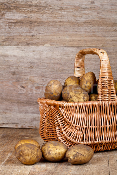 basket with fresh potatoes Stock photo © marylooo