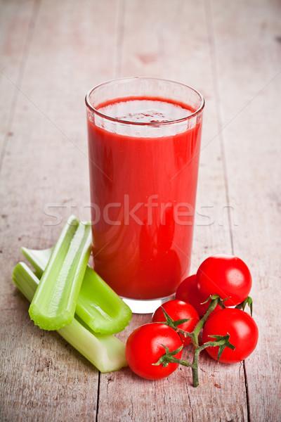 Tomatensap glas vers tomaten groene selderij Stockfoto © marylooo