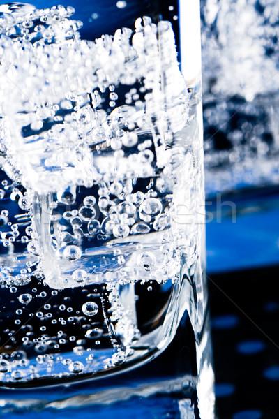 Foto stock: Agua · burbujas · macro · imagen · vidrio