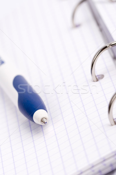 organizer, notebook and pen Stock photo © marylooo