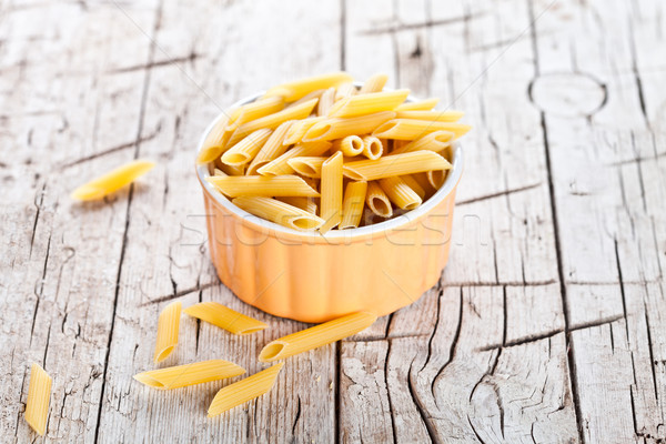 Stock photo: uncooked pasta in a bowl