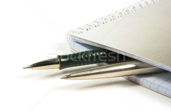 blank notebook and two pens Stock photo © marylooo
