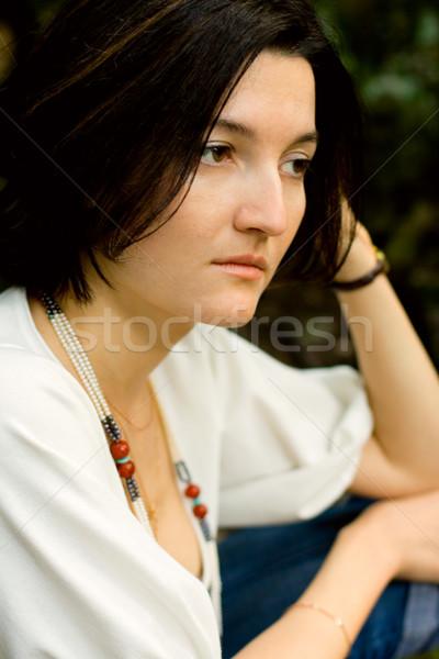 unhappy brunet woman Stock photo © marylooo