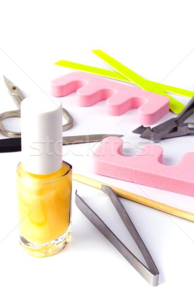 педикюр красоту набор белый рук розовый Сток-фото © marylooo