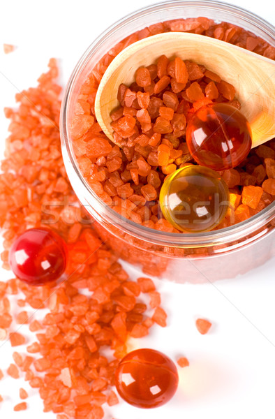 bath salt and oil balls in a bowl Stock photo © marylooo