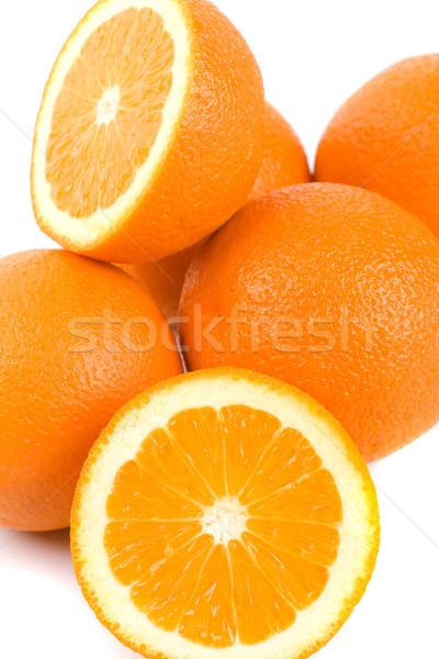 Fraîches oranges blanche rouge grain Photo stock © marylooo