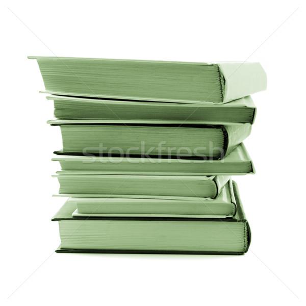 Kitaplar yalıtılmış beyaz okul arka plan Stok fotoğraf © marylooo