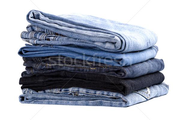 Isolé blanche bleu tissu Photo stock © marylooo