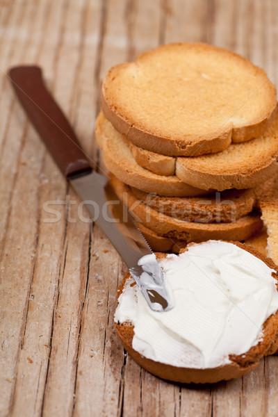 snack crackers with cream cheese  Stock photo © marylooo