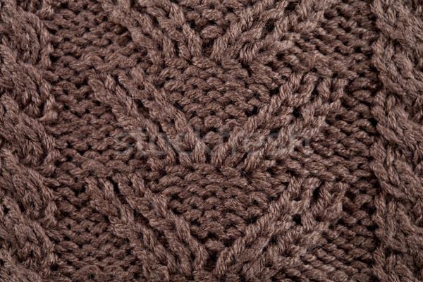 Kötött textúra közelkép makró szövet minta Stock fotó © marylooo