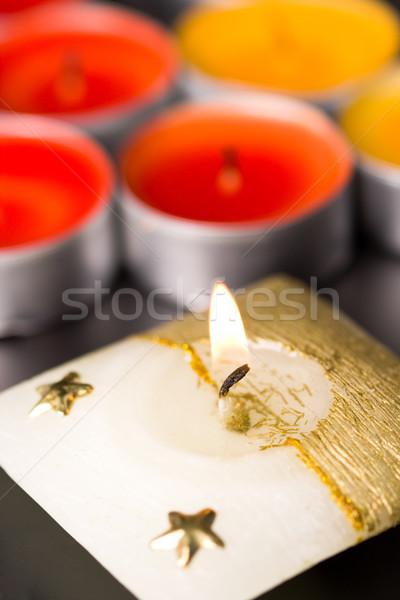 flaming candle Stock photo © marylooo