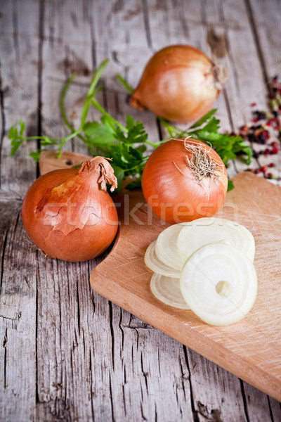 fresh onions and parsley  Stock photo © marylooo