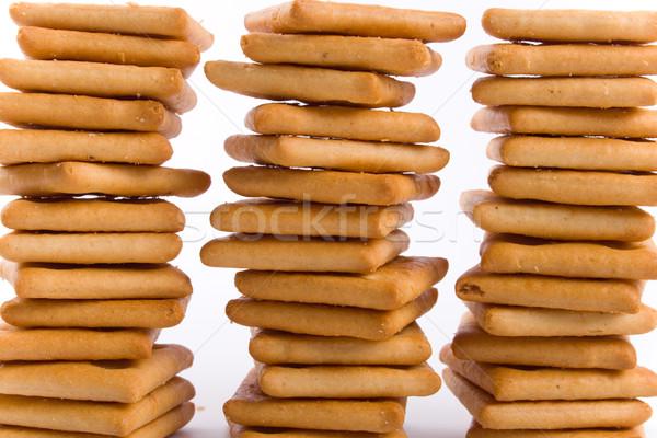 Tres cookies aislado fondos blancos comer amarillo Foto stock © marylooo