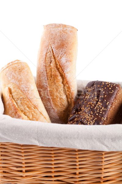 Foto stock: Frescos · primer · plano · blanco · alimentos · grupo