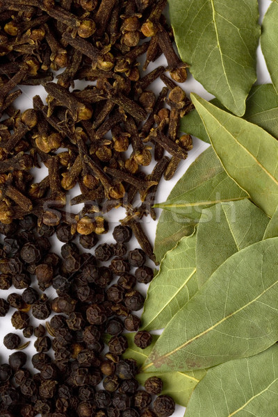 bay leafs, cloves and black pepper Stock photo © marylooo