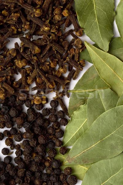 Szegfűszeg feketebors főzés gyógynövények közelkép levél Stock fotó © marylooo