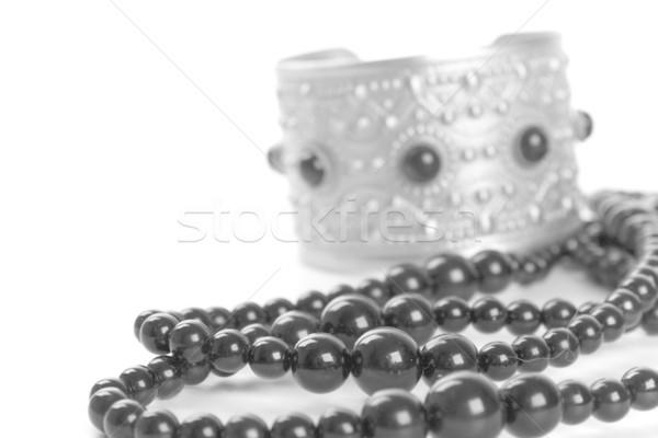 bracelet and black necklace Stock photo © marylooo
