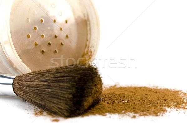 Stock photo: powder and brush