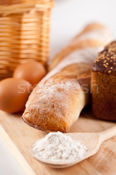 Сток-фото: хлеб · мучной · яйца · натюрморт