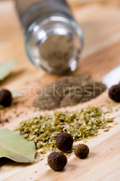 唐辛子 ハーブ 葉 スパイス クローズアップ 木製 ストックフォト © marylooo