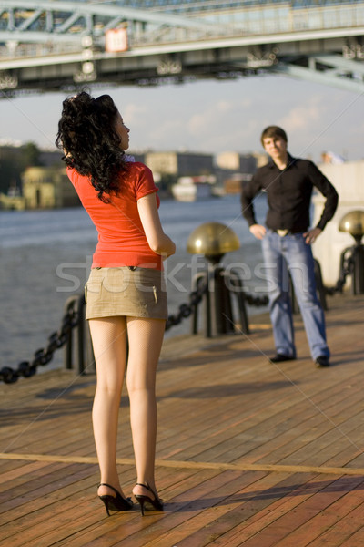 Paar outdoor portret vrouw man Stockfoto © marylooo