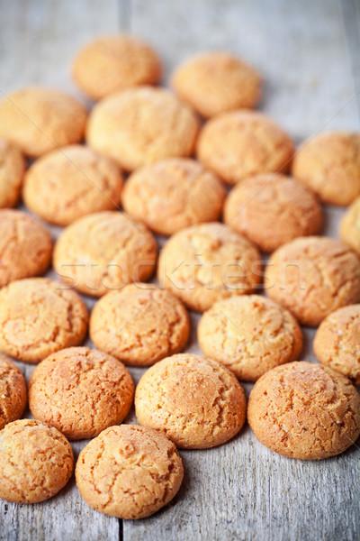meringue almond cookies Stock photo © marylooo