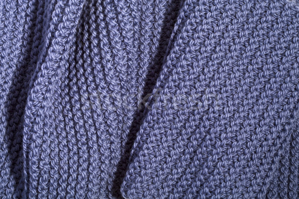 knitted blue scarf Stock photo © marylooo